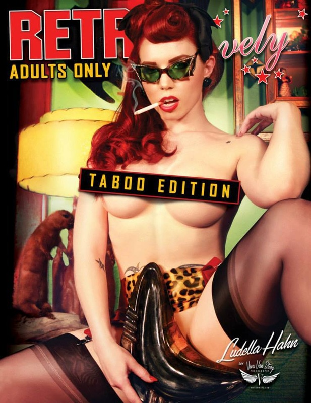 Retro Lovely Magazine Taboo Edition with Cover Model Ludella Hahn by Viva Van Story